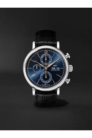 IWC SCHAFFHAUSEN Portofino Automatic Chronograph 42mm Stainless Steel and Alligator Watch, Ref. No. IW391036