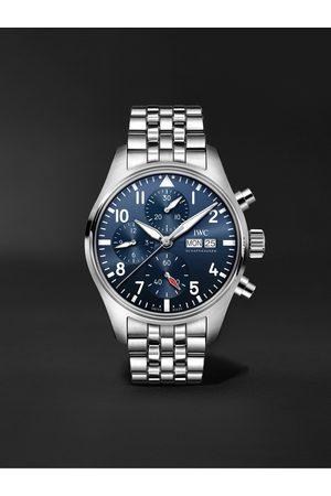 IWC SCHAFFHAUSEN Herren Uhren - Pilot's Automatic Chronograph 41mm Stainless Steel Watch, Ref. No. IW388102