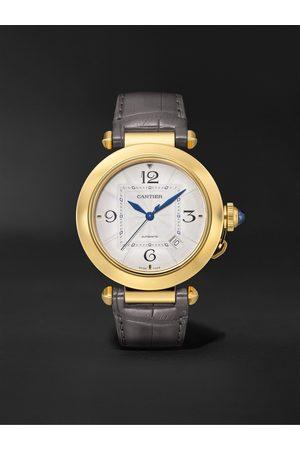 Cartier Pasha de Automatic 41mm 18-Karat Gold and Alligator Watch, Ref. No. WGPA0007
