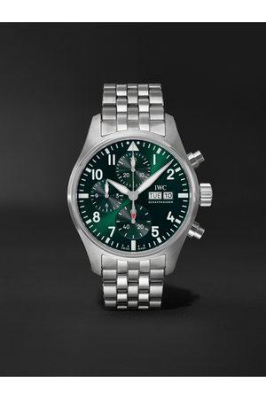 IWC SCHAFFHAUSEN Herren Uhren - Pilot's Automatic Chronograph 41mm Stainless Steel Watch, Ref. No. IW388104