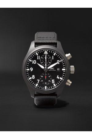 IWC SCHAFFHAUSEN Herren Uhren - Pilot's TOP GUN Automatic Chronograph 44mm Ceramic and Leather Watch, Ref. No. IW389001