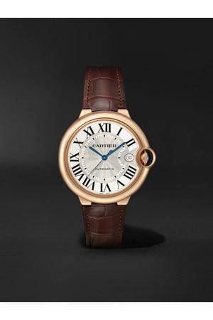 Cartier Herren Uhren - Ballon Bleu de Automatic 40mm 18-Karat Pink Gold and Alligator Watch, Ref. No. WGBB0035