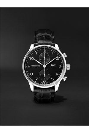 IWC SCHAFFHAUSEN Portugieser Automatic Chronograph 41mm Stainless Steel and Alligator Watch, Ref. No. IW371609