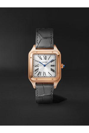 Cartier Santos-Dumont 31.4mm Large Steel and Alligator Watch, Ref. No. WSSA0022