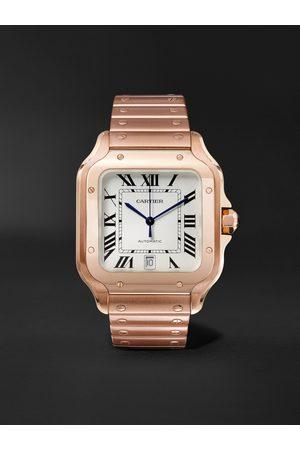 Cartier Herren Uhren - Santos Automatic 39.8mm 18-Karat Pink Gold Interchangeable Alligator Watch, Ref. No. WGSA0007