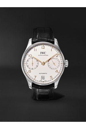 IWC SCHAFFHAUSEN Portugieser Automatic 42mm Stainless Steel and Alligator Watch, Ref. No. IW500704