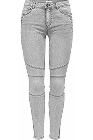 ONLY Damen ONLROYAL Life REG SK BIKR Zip ANK BB PIM Jeans