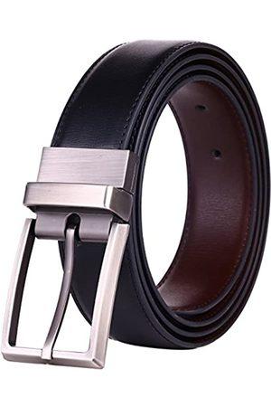 beltox fine Beltox Herren-Gürtel, Leder, wendbar, 3,2 cm breit, gedrehte Schnalle