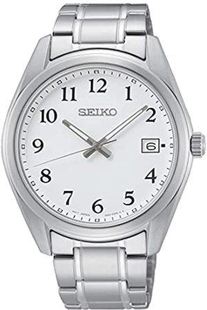 Seiko Herren Analog Quarz Uhr mit Edelstahl Armband SUR459P1