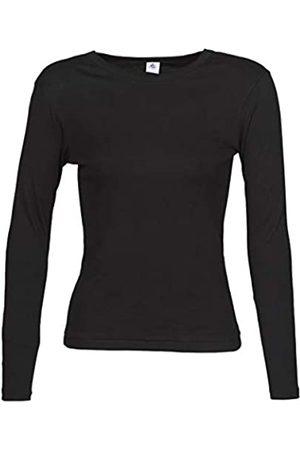 Petit Bateau Damen T-Shirts - Damen Tee Shirt Ml Noir [ T-Shirt Not Applicable (Noir 1p7)