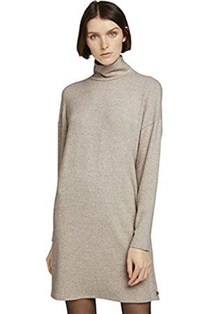 TOM TAILOR Damen Rollkragen 1027193 Sweatshirt, 24540-Cozy Melange