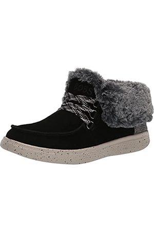 Skechers Damen Bobs Skipper-Suede Wallabee Bootie with Faux Fur Lining Sneaker, /