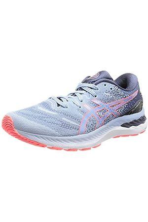 Asics Damen Gel-Nimbus 23 Road Running Shoe, Mist/Blazing Coral