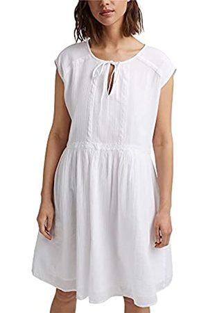 Esprit Damen Freizeitkleider - Voile-Kleid aus Bio-Baumwolle mit Spitze