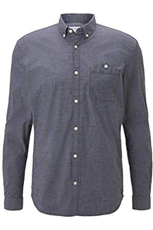 TOM TAILOR Herren Stretch Poplin T-Shirt, 10668-Sky Captain Blue