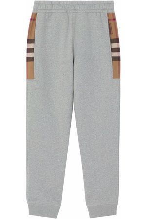 Burberry Herren Jogginghosen - Check-panel track pants
