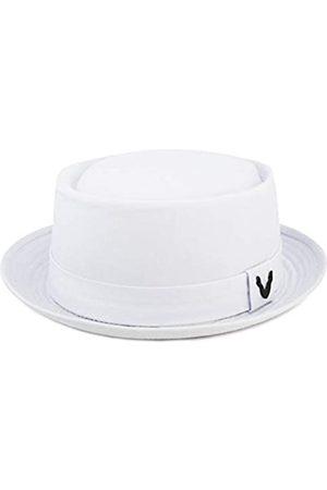 The Hat Depot Porkpie-Hut aus Baumwolle und Baumwolle, Fischgrätenmuster