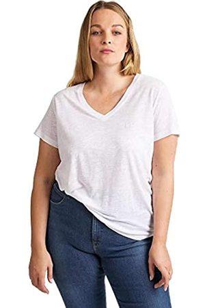Lee Damen T-Shirt V Neck TEEXS S M L XL XXL 3XL 4XL Schwarz Weiss, Größe:XS