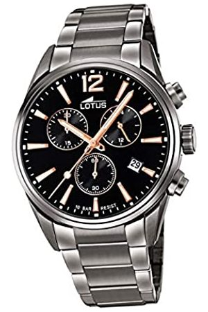 Lotus Herren Chronograph Quarz Uhr mit Edelstahl Armband 18682/2