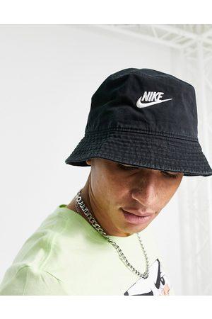 Nike – Futura – Anglerhut in aus verwaschener Baumwolle mit Logo