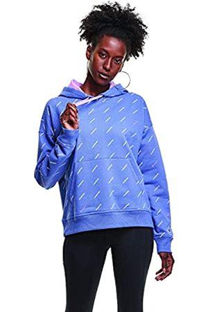 Champion Damen Powerblend Oversized Hoodie-Print Sweatshirt, Legend Svn Seas Blue