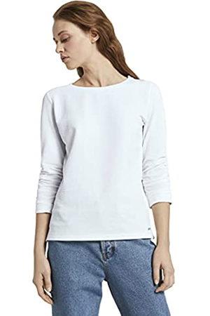 TOM TAILOR Damen Struktur Sweatshirt, 10332-Off White