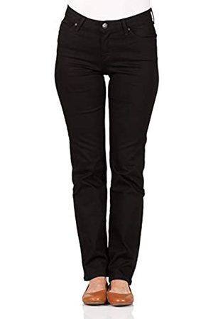 Lee Damen Jeans Marion - Straight Fit - - Black Rinse, Größe:W 28 L 33