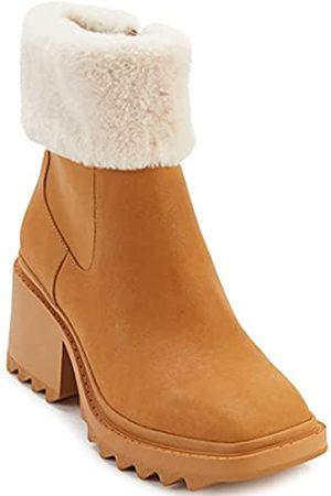 Karl Lagerfeld Damen Carey Mode-Stiefel, Tanne/Creme