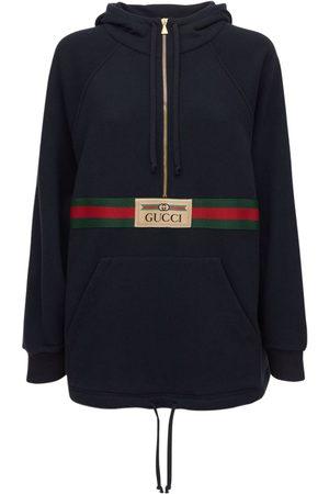 Gucci Mini-sweatkleid Aus Gefilztem Baumwolljersey
