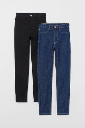H&M 2er-Pack Skinny Fit High Jeans
