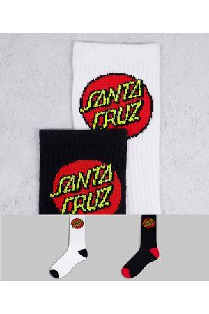Santa Cruz – Classic Dot – Verschiedenfarbige Socken im 2er-Pack-Mehrfarbig