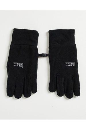 JACK & JONES – Schwarze Fleece-Handschuhe