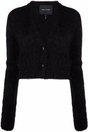 Marc Jacobs Hairy Cropped-Cardigan mit V-Ausschnitt