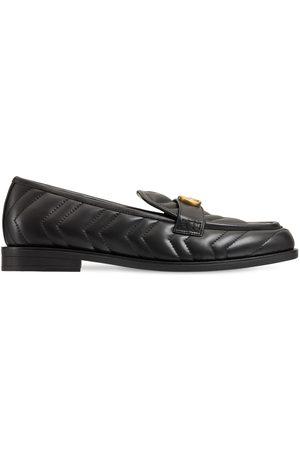 """Gucci Damen Halbschuhe - 15 Mm Hohe Loafers Aus Ledermatellassé """"marmont"""""""