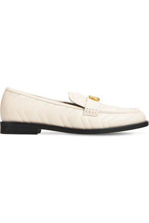 """Gucci 15 Mm Hohe Loafers Aus Ledermatellassé """"marmont"""""""