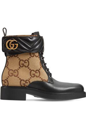 """Gucci Damen Stiefeletten - 40mm Hohe Stiefeletten Aus Leder """"marmont"""""""