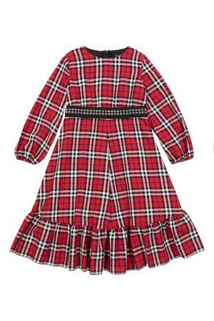 MONNALISA Kariertes Kleid aus einem Wollgemisch