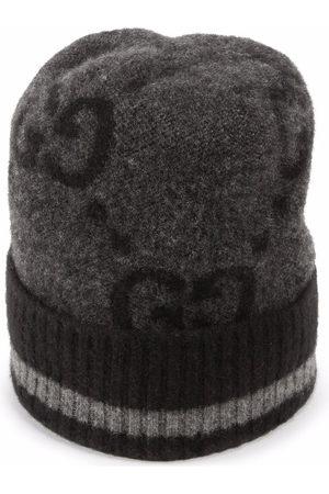 Gucci Intarsien-Mütze mit Logo