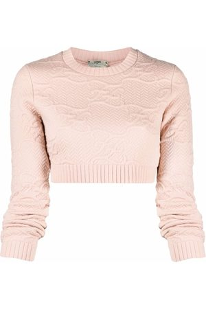 Fendi Karligraphy Cropped-Pullover