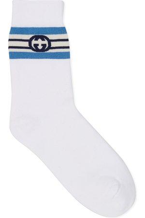 Gucci Herren Socken & Strümpfe - Socken aus Baumwolle mit GG Streifen