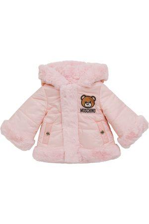 Moschino Baby Mantel aus Faux Fur