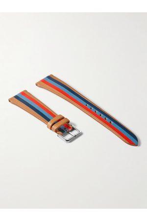 laCalifornienne Blue Thunder Striped Leather Watch Strap
