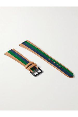 laCalifornienne Herren Uhren - Ivy Striped Leather Watch Strap