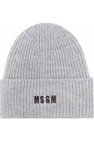 Msgm Herren Hüte - Mütze mit Logo-Stickerei