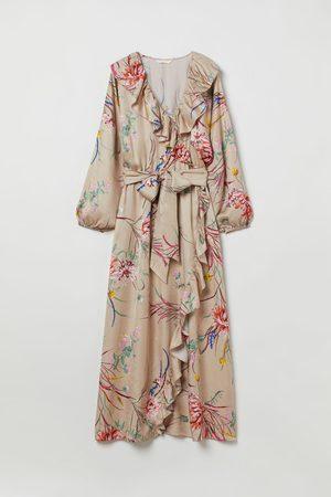 H&M Damen Freizeitkleider - Kleid mit Volants