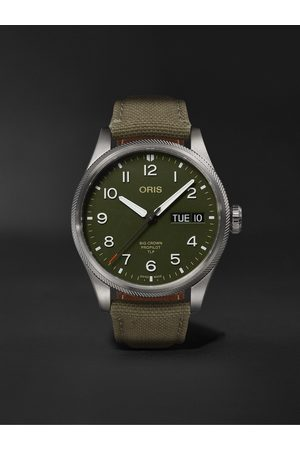 Oris Herren Uhren - TLP Big Crown ProPilot Limited Edition Automatic 44mm Stainless Steel and Ventile Watch, Ref. No. 01 752 7760 4287-Set
