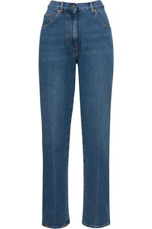 Gucci Gebleichte, Gerade Jeans Aus Denim-eco