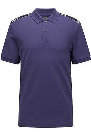 HUGO BOSS Herren Poloshirts - Poloshirt aus merzerisierter Baumwolle mit Logo-Tape