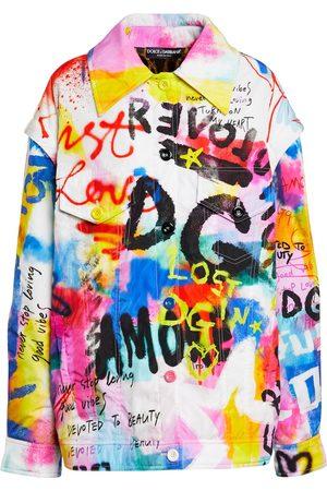 Dolce & Gabbana Damen Jacken - Bedruckte Jacke aus Nylon