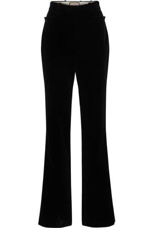 Gucci Damen Hosen & Jeans - Hose Aus Weichem Baumwollsamt